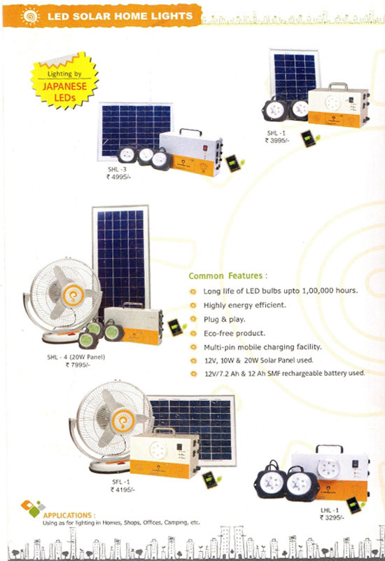 LED Solar Home Lights